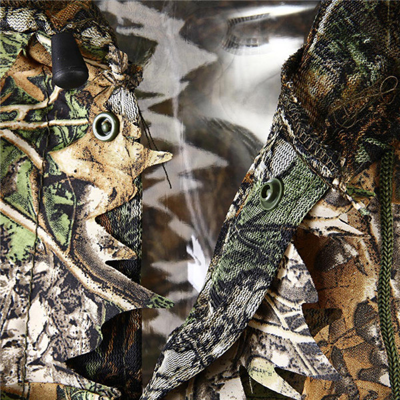 Tactical Hunting Clothes 3D Camo Leaf Ghillie Suits Sniper Airsoft Camouflage 5