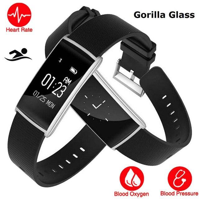 5264a46c010 Bluetooth Relógio Inteligente Relógio de Mergulho À Prova D  Água Gorila HR BP  Saúde Smartwatch Montre Conectar Apto Para IOS Sony Xiao mi mi Banda 3 PK   ...