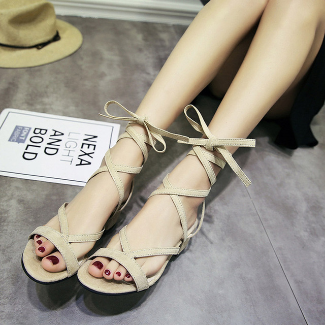 b82f717cb 2017 New Arrival Summer Fashion Women Casual Shoes Black Lady Leisure  Sandals Gladiator Soft All Match