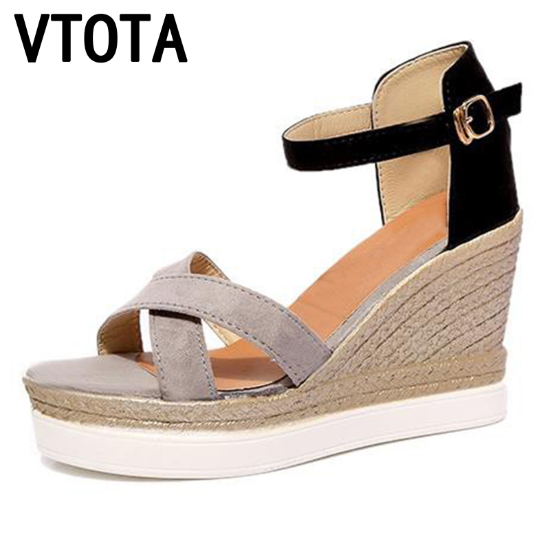 VTOTA Fashion High Heels Sandals Woman Gladiator Sandals Platform Wedges Open Toe Women Sandals zapatos mujer Summer Shoes X28 2017 summer shoes woman platform sandals women soft leather casual open toe gladiator wedges women shoes zapatos mujer
