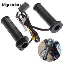 Mgoodoo 22mm 12V Motorcycle Electric Hand Heated Grips Motor Bike ATV Scooter Handlebar Hot Grip Hand Warmer For Honda Suzuki  22mm black 7 8 inch motos motorcycle handlebar electric hot heated grips handle handlebar warmer