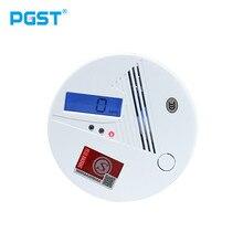 Detector de alarma de intoxicación por monóxido de carbono sensible de alta calidad Detector de humo de Gas CO inteligente indicador LCD advertencia 80dB