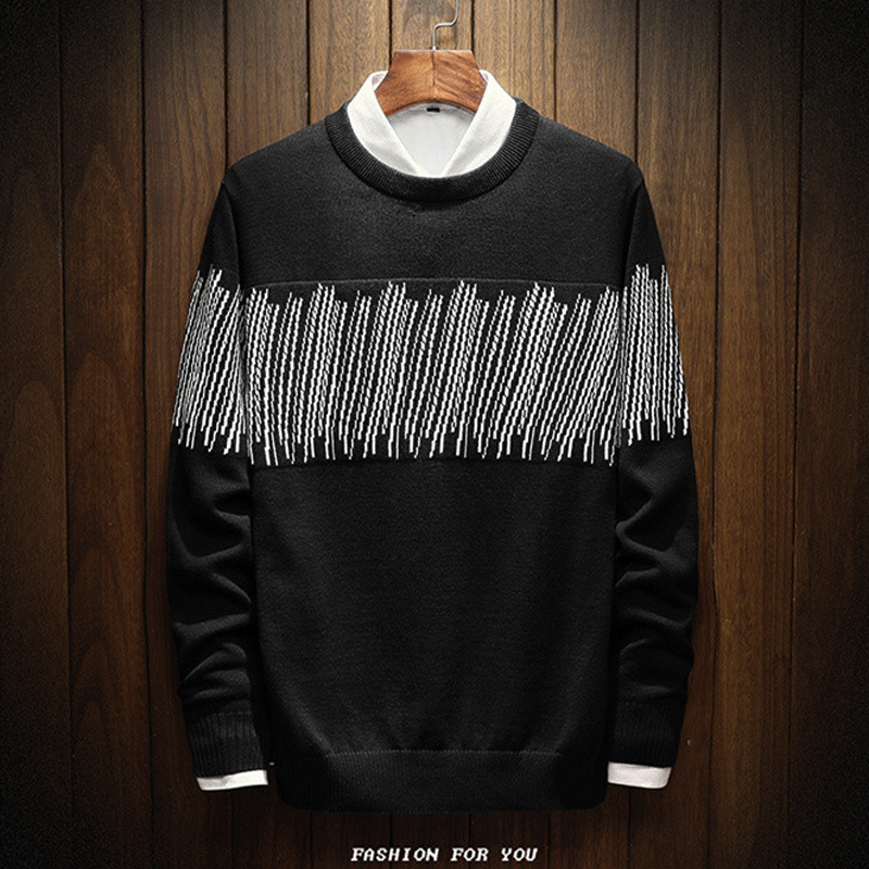 New Man Plus Size 10XL 9XL 8XL 7XL 6XL Knitted Sweaters Cotton Stripe Mens Casual Businss Knitting Pullovers Knitwear Brand