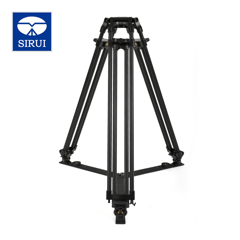 SIRUI BCT-3002 Film And Television Degrees Pro Camera Tripod Aluminum Broadcast Video Tripod 2 Section DHL Free Shipping y shot 3002