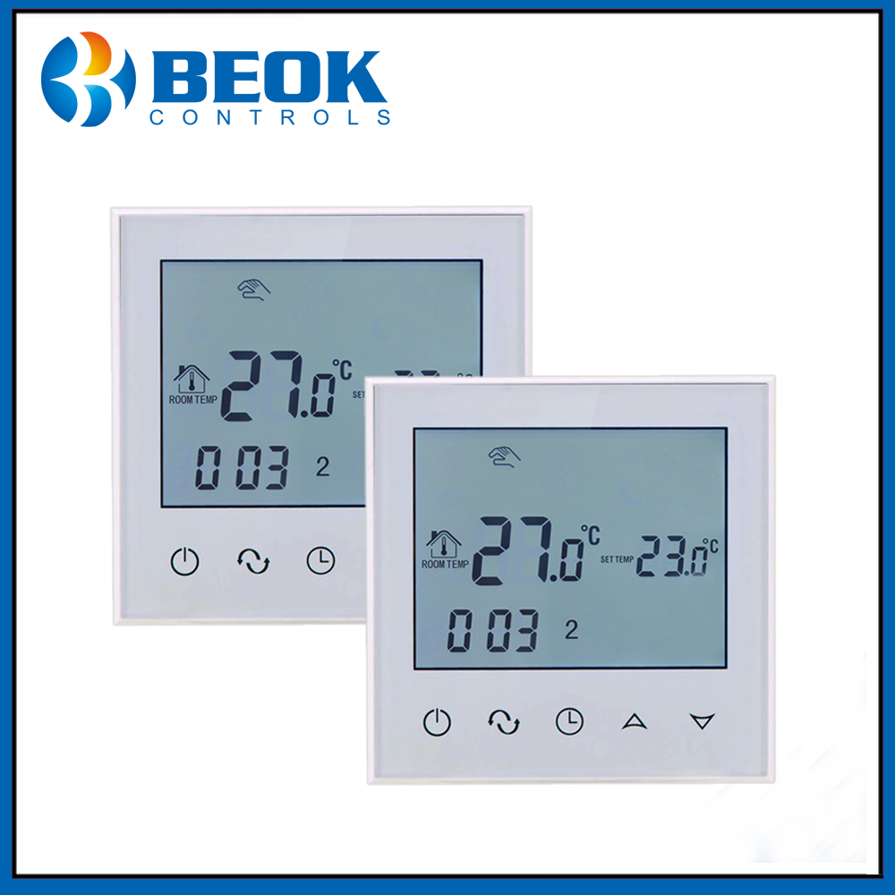2pcs TDS21 EP LCD Digital Display Programmable Touch Screen Floor Heating Thermostat Temperature Room Controller Thermoregulator