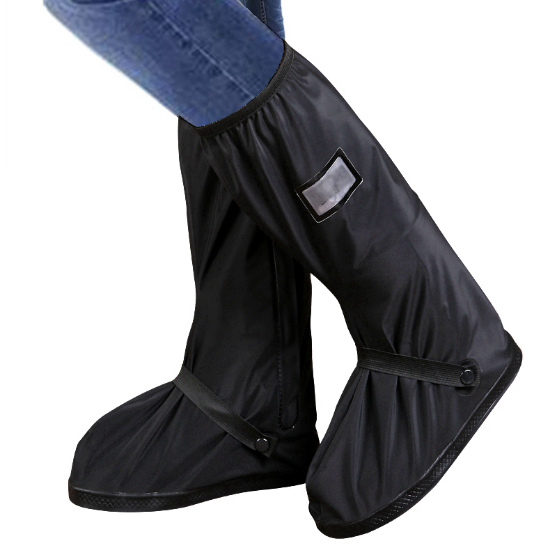 Waterproof Reusable Motorcycle Cycling Bike Rain Boot Shoes Covers For Rider US