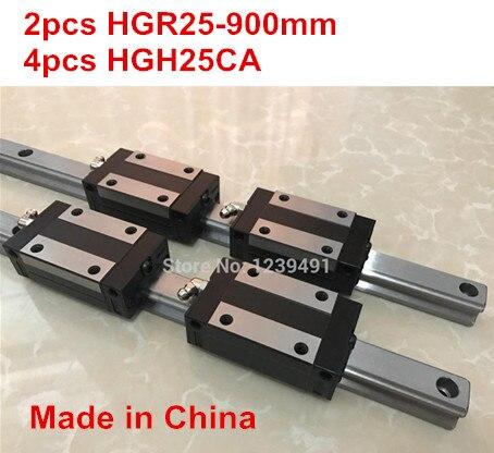 НД линейные направляющие 2шт HGR25 - 900мм + 4шт HGH25CA линейный блок каретки с ЧПУ