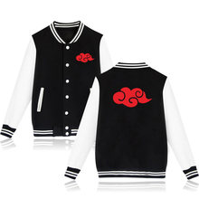 WEJNXIN Latest Naruto Akatsuki Baseball Jacket Uchiha Itachi Hoodies Autumn & Winter Casual Unisex Sweatshirt Moletom Masculino(China)