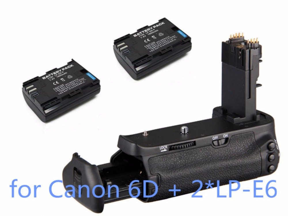ФОТО Pro Vertical Multi-power Battery Grip Pack Holder as BG-E13 + 2*LP-E6 for Canon EOS 6D DSLR Camera Free shipping Tracking Number