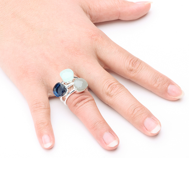 brixini.com - Natural Agate Solid 925 Sterling Silver Rings
