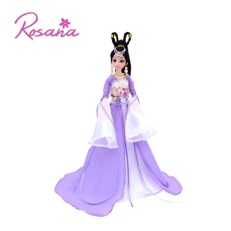 جودة روزانا الصينية القديمة ل دمية باربي تأثيري التقليدية الكلاسيكية الأميرة اللباس ثوب دمية الملابس الملحقات