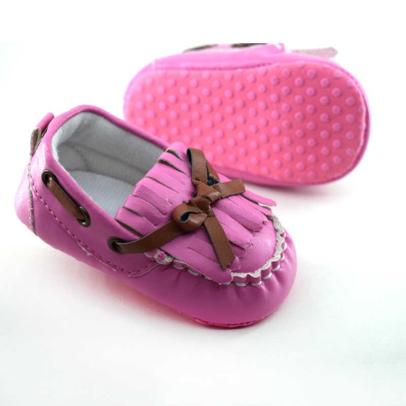 Zapatos de bebé recién nacido primer caminador niñas niño algodón lentejuelas con nudo de mariposa bebé suela suave zapatos de cuna bebé zapatos de mocasín