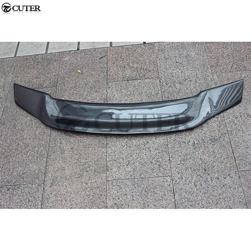 W204 C200 C300 R Стиль углеродного волокна сзади крылья спойлера ДЛЯ Mercedes Benz W204 седан задние крылья багажник спойлер 08 14