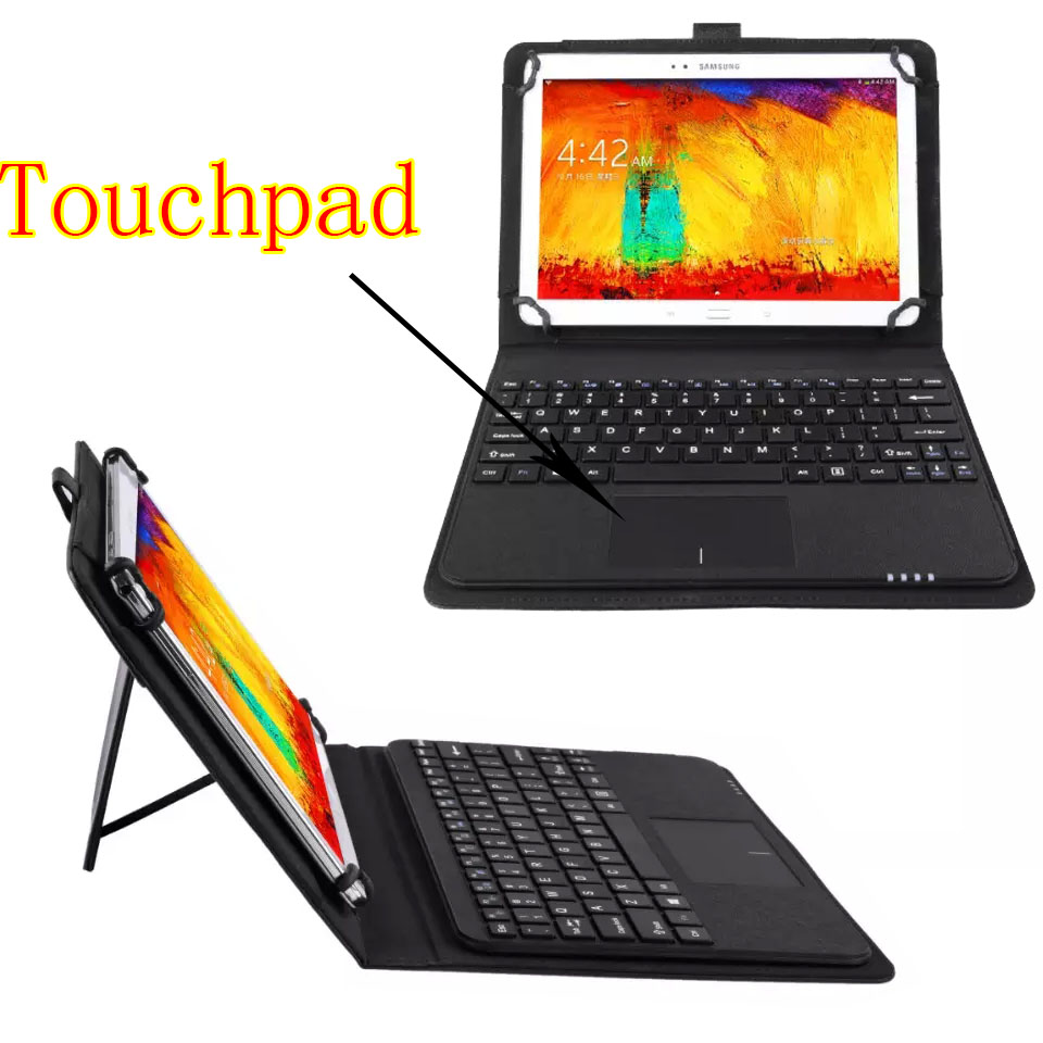 3in1 Universal Dechatable Bluetooth Keyboard w/ Touchpad & PU Leather Case Cover For Huawei MediaPad T2 pro 10 Inch M2 10 universal 61 key bluetooth keyboard w pu leather case for 7 8 tablet pc black