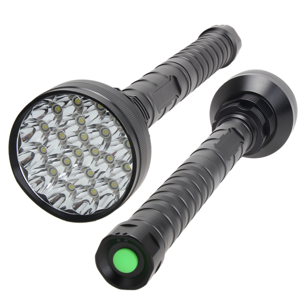 Waterproof CREE XM-L T6 21 LED 30000LM 18650 Flashlight Camping Torch Hunting Biking Lamp with 18650 3.7V Rechargeable Batteries rechargeable flashlight led torch xm l t6 xm l2 waterproof 3800 lumen 5 mode lanterna camping flashlight lamp batteries 18650