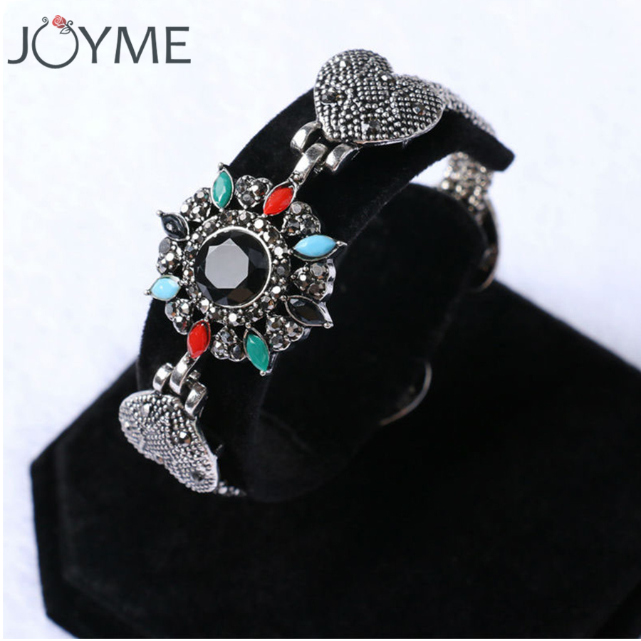 Survival Bracelet Silver Plated Chain Black Austria Crystal Multi Color Resin Bracelets For Women Birthday Gift Free Shipping