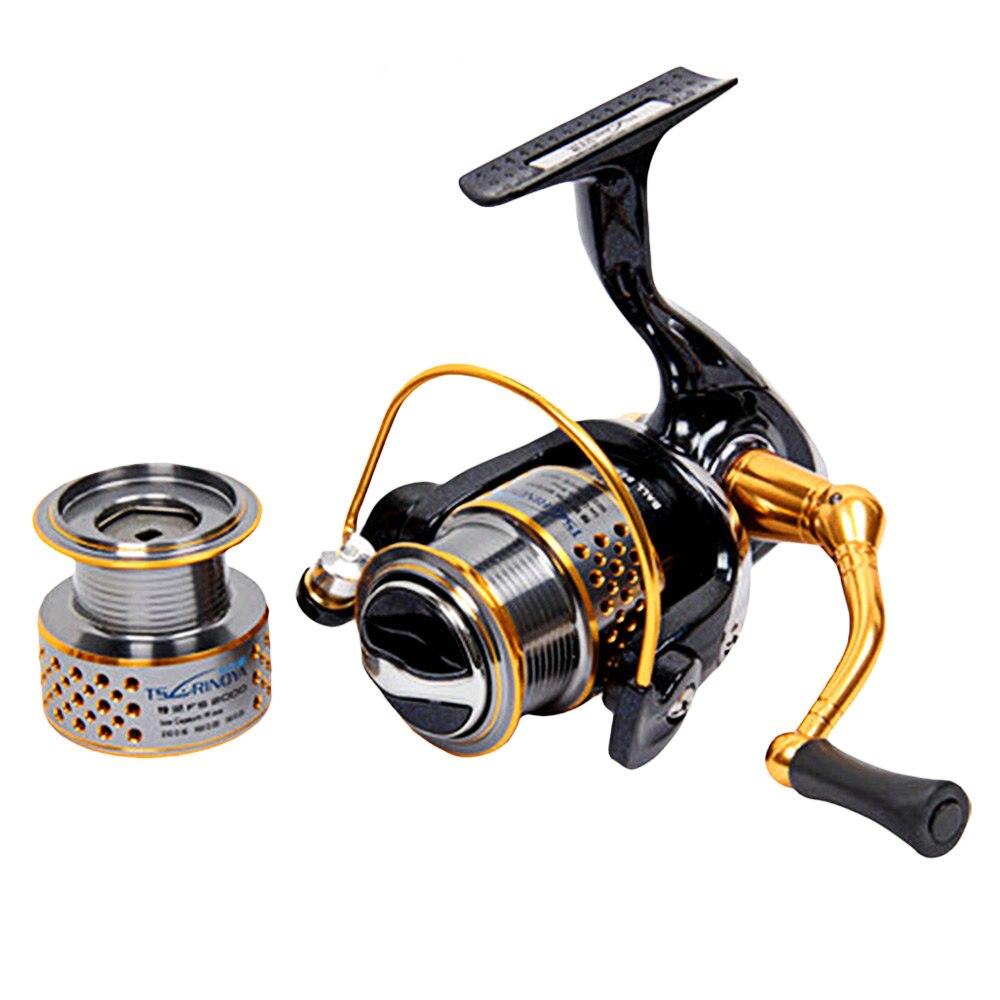 TSURINOYA F2000 5:2:1 rapport de vitesse moulinet de pêche pour la ligne de leurre de moulage ligne de matériel de pêche automatique poignée pliante moulinet de pêche YL-21