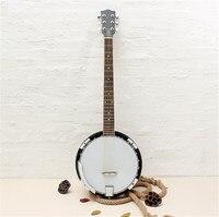Zebra 6 Strings Banjo Concert Ukulele Exquisite Professional Musical Banjo Sapelli Guitar For Stringed Instruments Lover