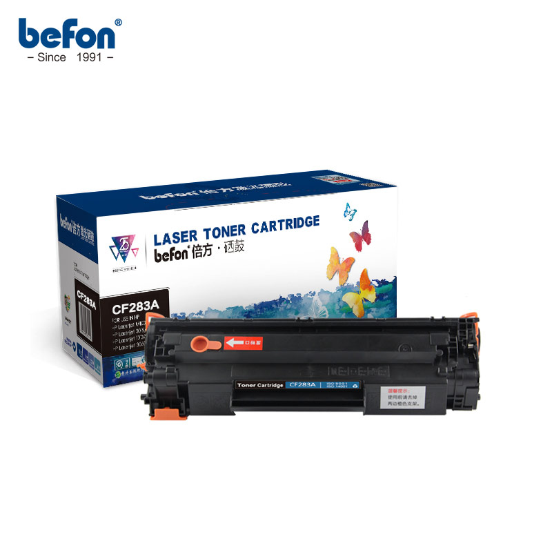 Befon Compatible 283A Toner Cartridge Replacement For HP CF283A 83A Easy Refilled For Laserjet Pro M125 M127 M127FN M126FN M125N