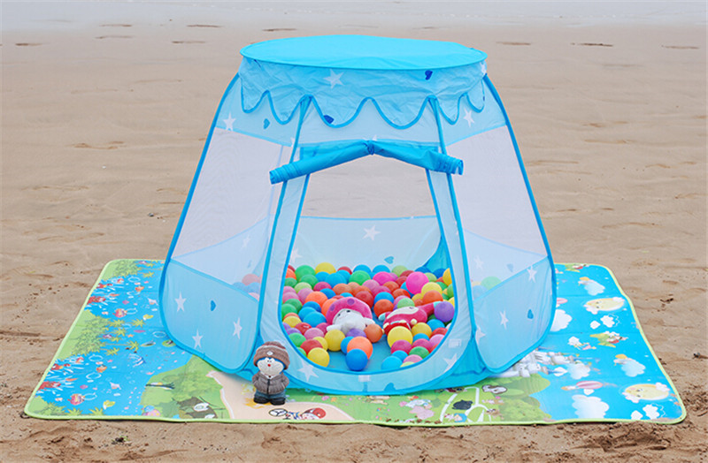 New Design Kids Tent Play House Indoor Outdoor Toys for Children,Blue Pink Beautiful Princess Tent