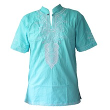Africa traditional Men`s Dashiki Tops Ethnic Embroidery Dresses Shirts for Male Wearing