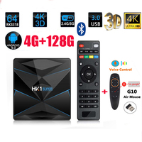HK1 Super Android 9.0 Smart TV BOX Google Assistant RK3318 4K 3D Utral HD 4G 64G TV Wifi Play Store Free Apps Fast Set top Box
