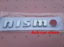 10pcs Free shipping High quality NISMO logo Car Emblem Badge Rear Trunk Decal Sticker auto accessories