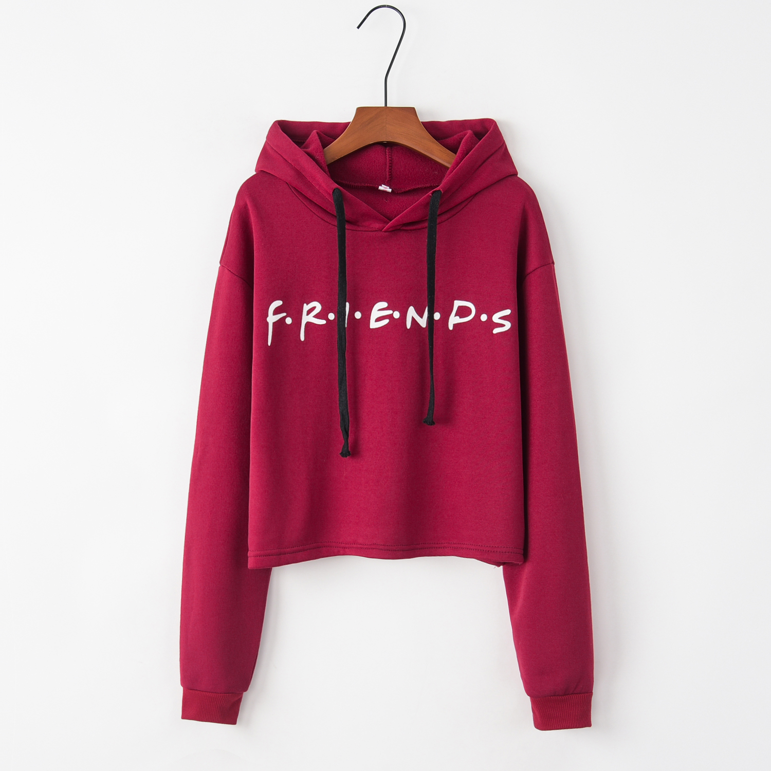 European And American Explosive Friends Letter Printed Long Sleeve Hat Guard Clothes