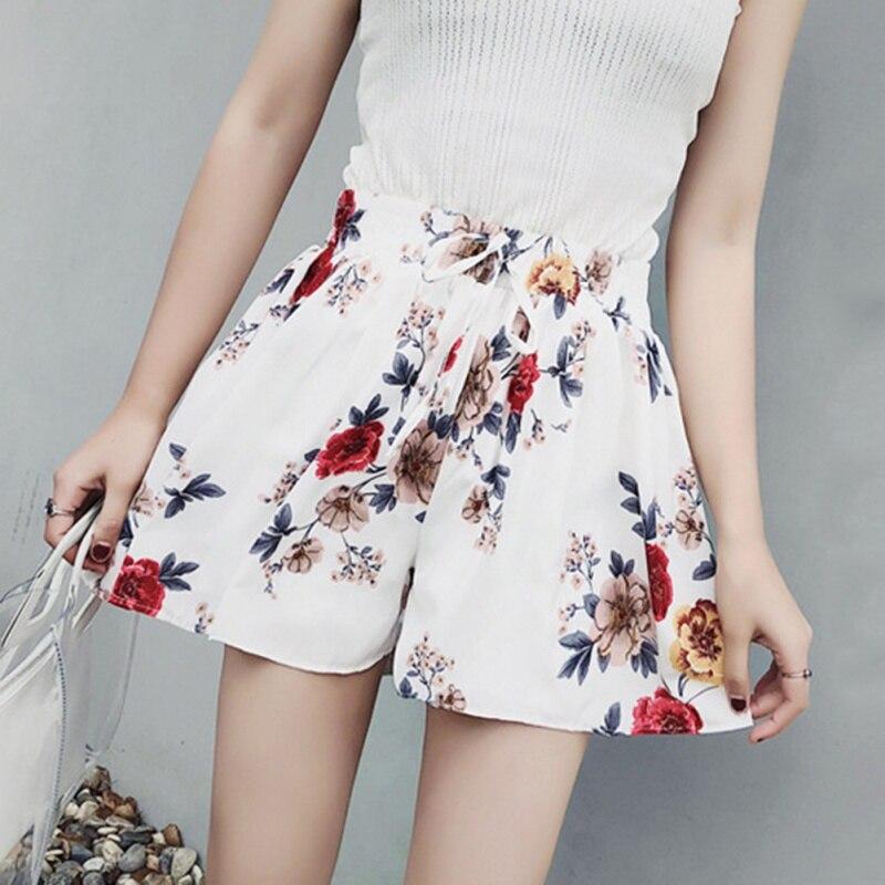 Sinnvoll Floral Weiß Shorts Feminino Kurze Hosen Frauen Rock Shorts Lose Weibliche Breite Legpantalon Corto Hotpants Kurze Breite Bein Hosen Hosen