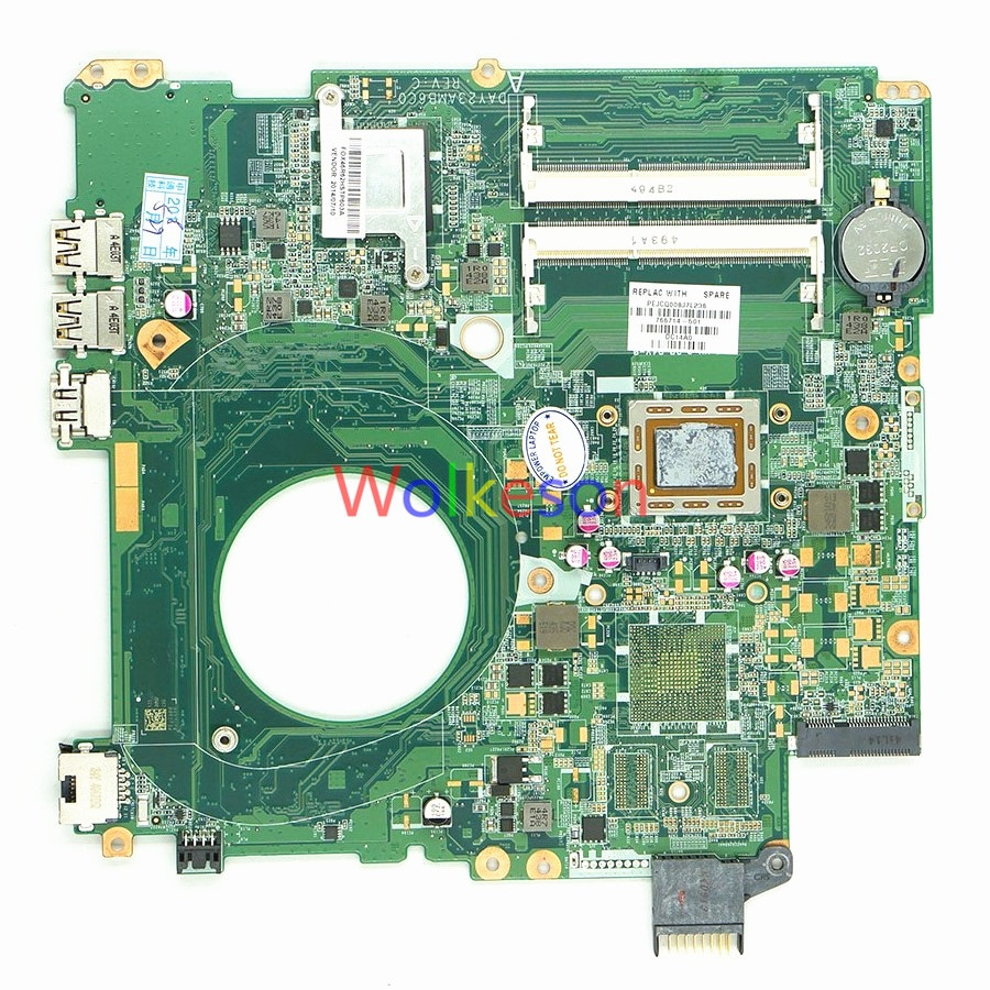 SHELI FOR HP Pavilion 15-P 15Z-P Laptop Motherboard W/ FOR A10-5745M CPU 766714-501 DAY23AMB6C0 DDR3 Test ok