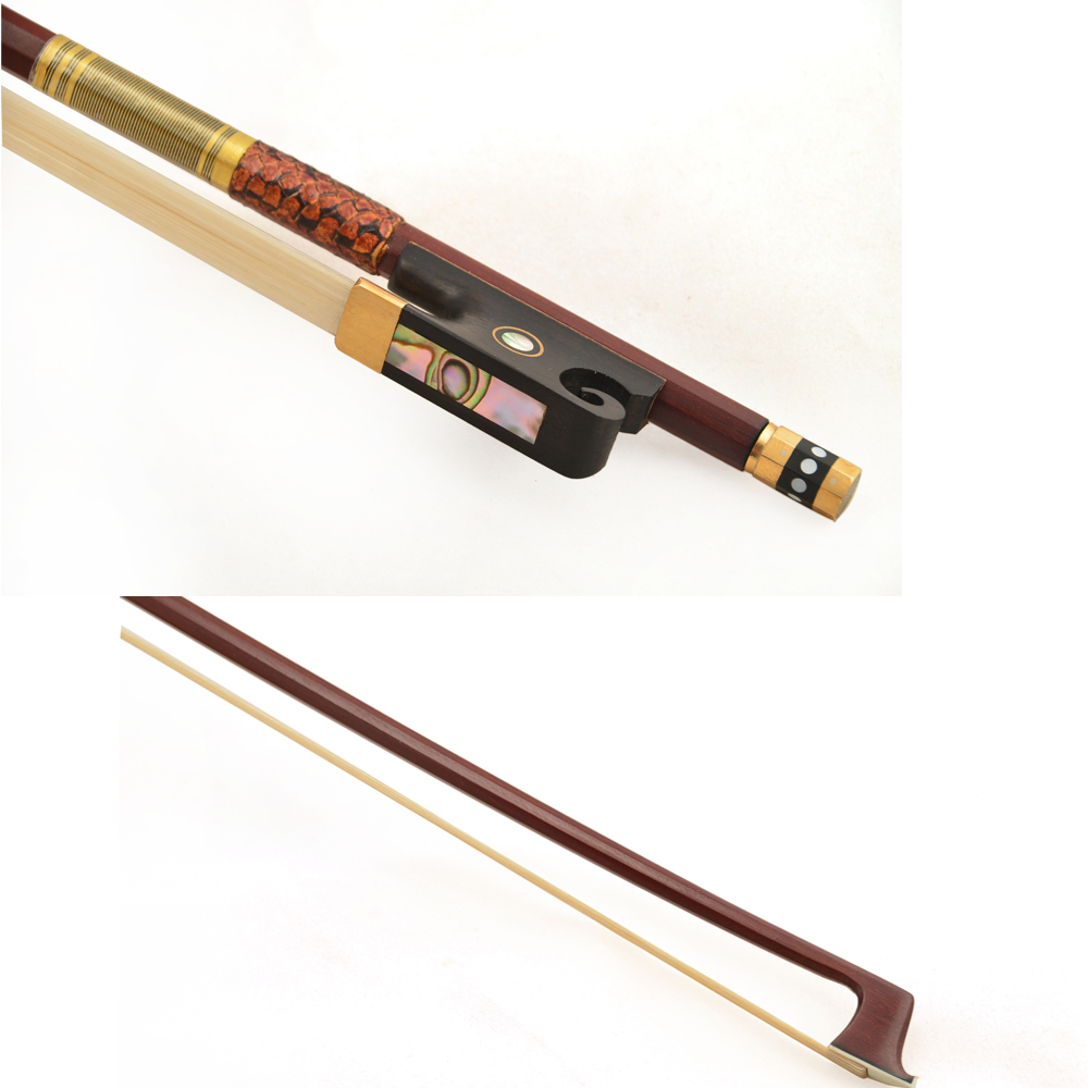 Christina Violin bow CB300 Brazil wood bow Pure White horse 1/8 1/4 1/2 3/4 4/4 Upscale bow Violin accessories violin bow 4 4 snake wood straight pretty inlay fr og high quality 11 dot inlay flower white horse hair