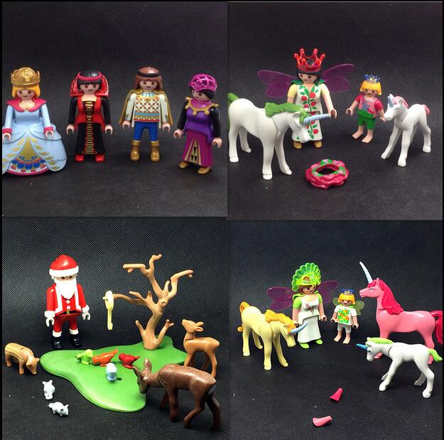 Conjunto de personajes originales Playmobil princesa acción Mini figuras de acción juguetes para niños juguetes Playmobil policía Navidad Juguetes