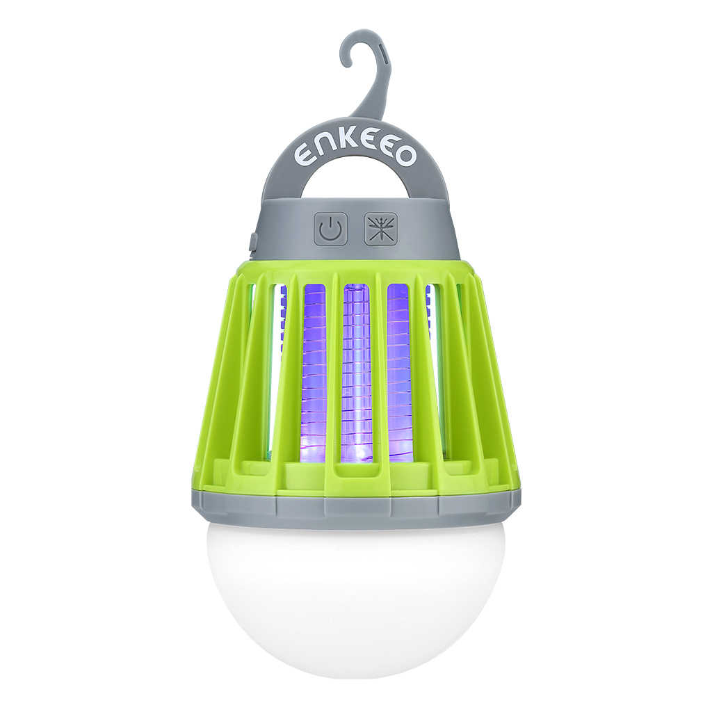 Enkeeo Mosquito Zapper Lantern Camping Light USB Charging Mosquito Killer Lamp Multi-Purpose Pest Repeller Waterproof Bug Killer