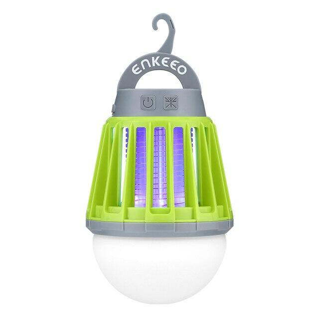 Enkeeo البعوض صاعق فانوس التخييم ضوء USB شحن البعوض القاتل مصباح متعددة الأغراض طارد الحشرات للماء علة القاتل
