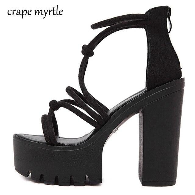 33b76b45addc3 gladiator sandals women summer shoes High Heels platform shoes women summer  thick heel sandals women platform Sandals YMA208