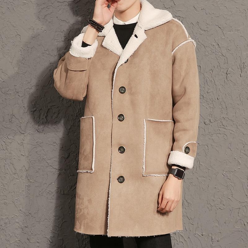 M-5XL New Solid Thicken Brand Clothing windbreaker winter coats Mens wool Fleece Casual Jackets Men Warm Trench Thermal Coats мужской пуховик brand new m 3xl men warm coats