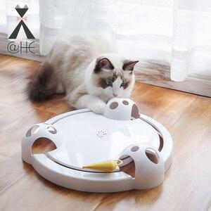 @ He gato engraçado interativo brinquedos de gato de estimação automático rotativa jogo de gato teaser placa ratos pegar brinquedo elétrico jogar brinquedos de exercício