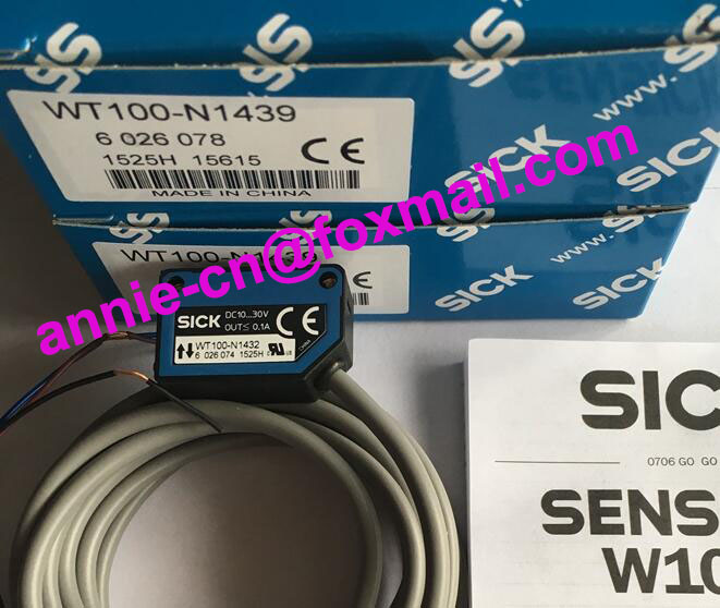 100%New and original  WT100-N1439  SICK  Photoelectric switch, photoelectric sensor 100
