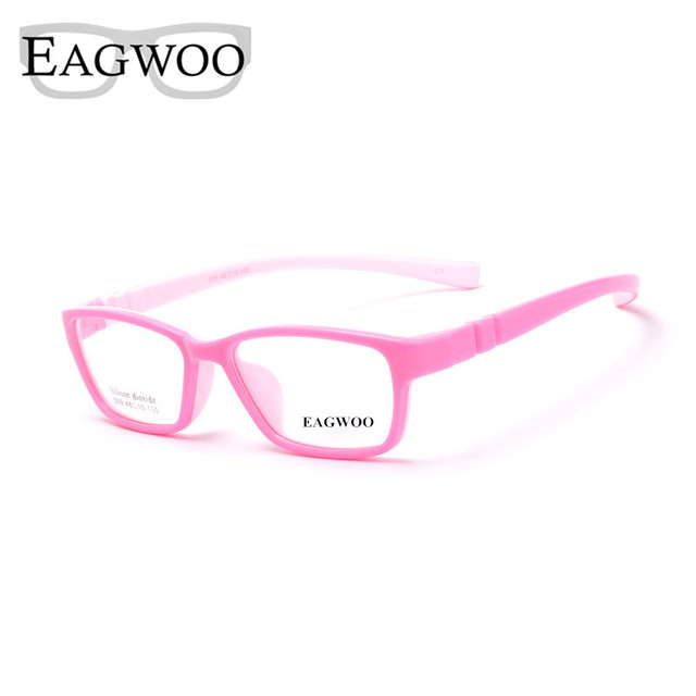EAGWOO Silicone Macio Crianças Óculos Frame Ótico Simples Knock Down Sepectacle Claro Espetáculo Frame Ótico Da Menina do Menino 1559