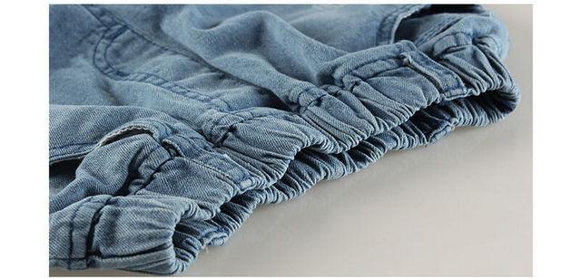 Blue Jeans Pants Fashion Kid Jean Suit for Children