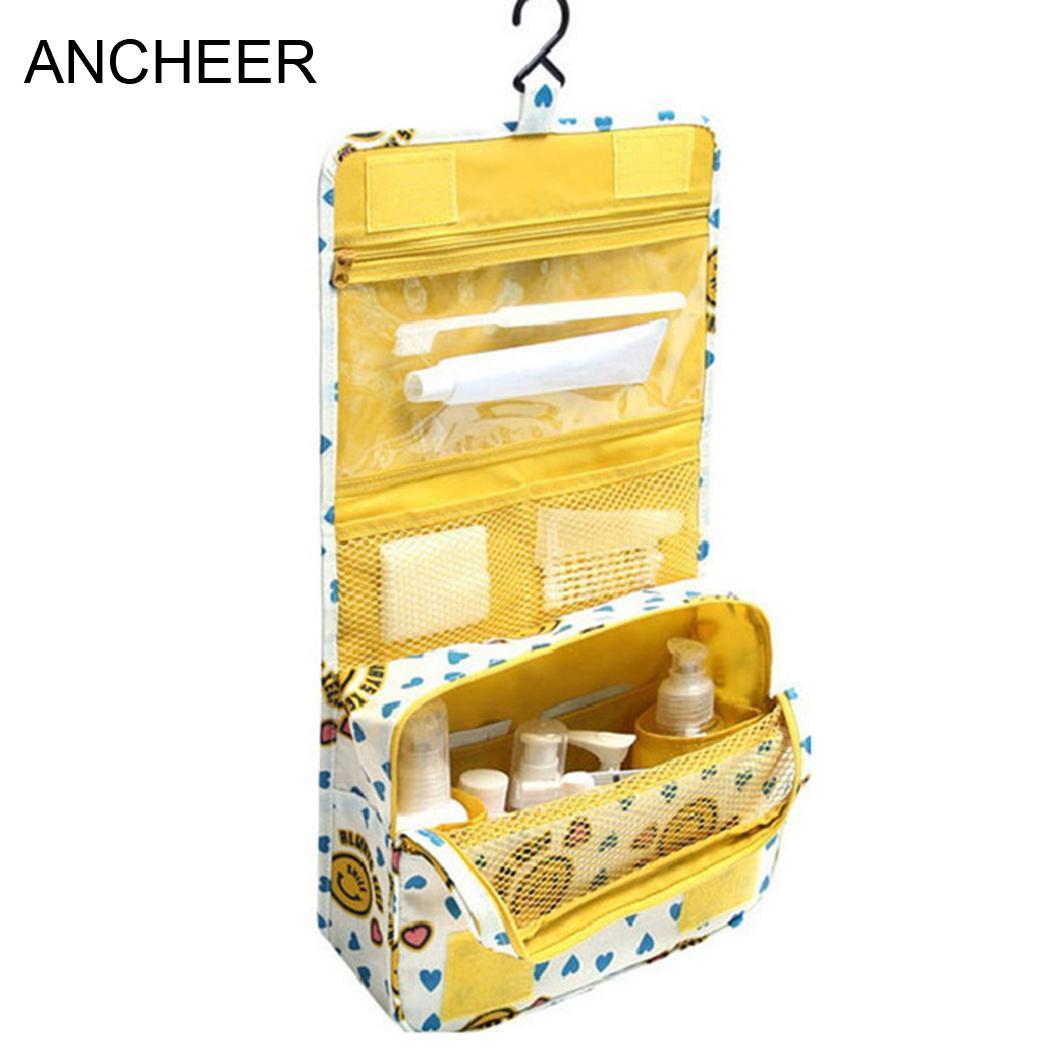Makeup Yellow Pink Multifunction Storage Organizer Cosmetic Wash Leopard Bag Travel Blue Portable