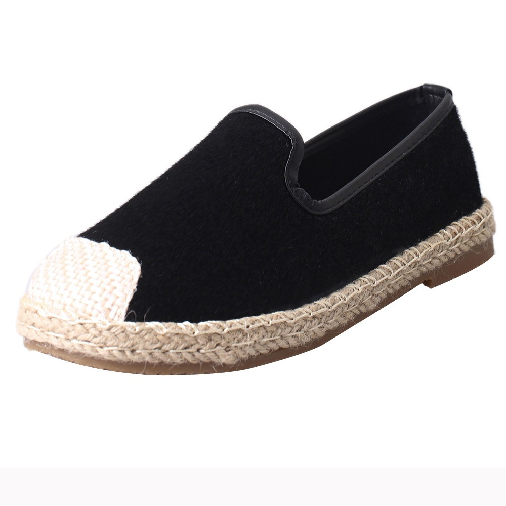 New Summer Women's fashion Espadrilles Slip-On Boat Flat Flats Fisherman Weave Casual Canvas Loafers oxford Lazy woman shoes genshuo women flats shoes casual round toe loafers fisherman espadrilles lazy hemp rope weave shoes woman black pink black pink