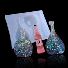 epoxy resin mold Wine Bear Bottle Pendant DIY Mold Resin Casting Craft Jewelry Making Tools Best Accessories