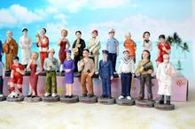 Psychological sand sandbox game with Sandplay resin figures chased criminals call the doctor monks nanny  28pcs/set
