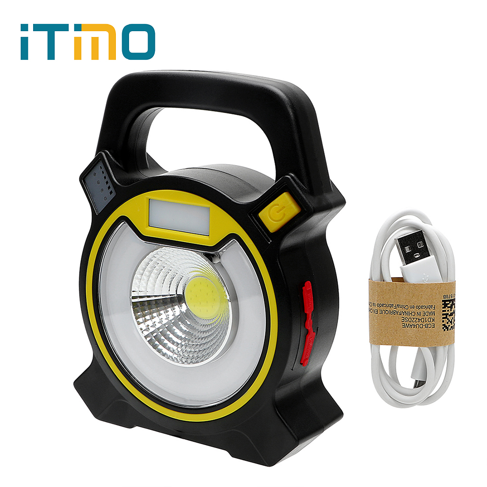 ITimo Tent Light 18650 COB LED Portable Floodlight Lantern for Camping Hiking Emergency Lamp 4-Mode