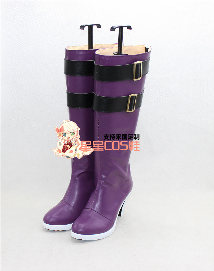 LoveLive! Love Live Maki Nishikino Purple High Heel Cosplay Shoes Boots X002