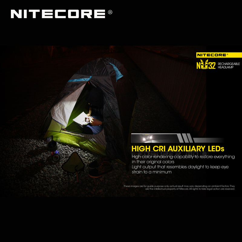 Image 5 - ホット販売 Nitecore NU32 CREE XP G3 S3 LED 550 ルーメン高性能充電式ヘッドランプ内蔵リチウムイオン電池    グループ上の ライト