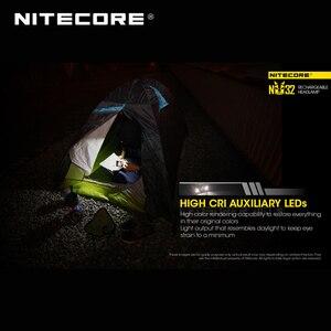 Image 5 - ホット販売nitecore NU32 cree XP G3 S3 led 550ルーメン高性能充電式ヘッドランプ内蔵リチウムイオン電池