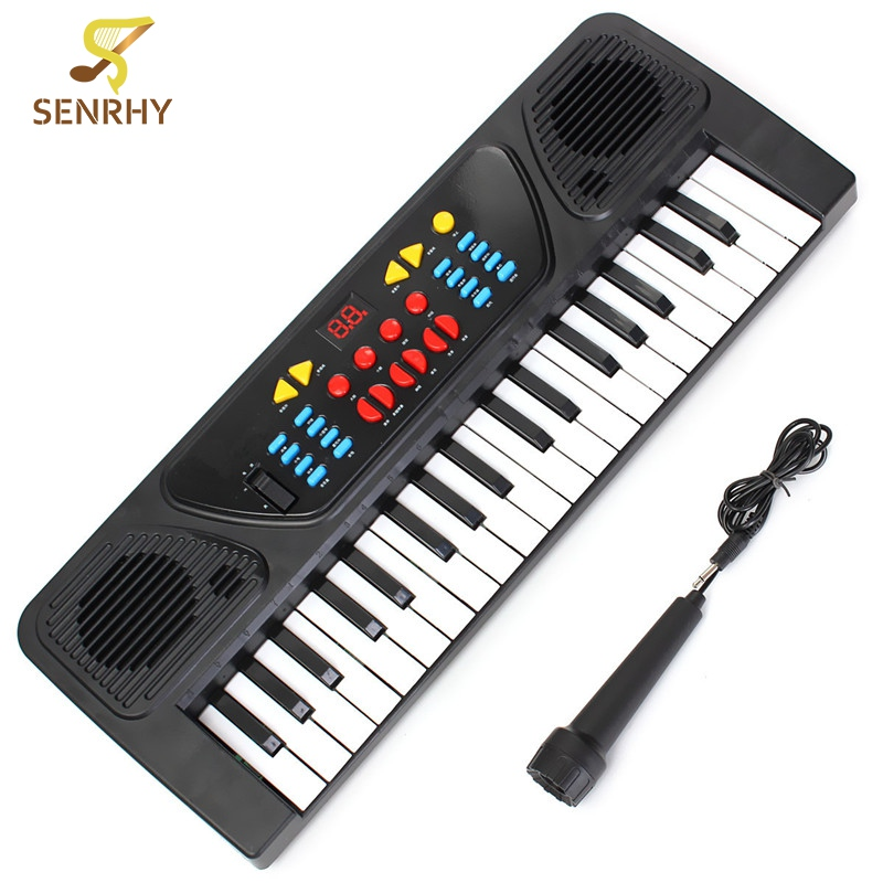 37 Keys Multifunctional Mini Electronic Keyboard Organ Music Toy with Microphone Educational Electone Musical Toy Gift for Kids ...