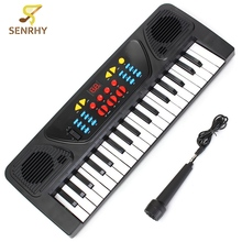 37 Keys Multifunctional Mini Electronic Keyboard Organ Music Toy with Microphone Educational Electone Musical Toy Gift for Kids